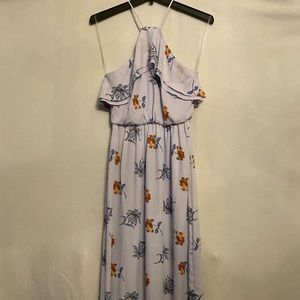 Lush Floral Dress Light Blue Size Small